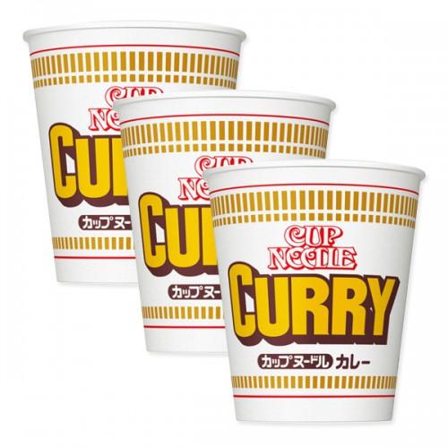 닛신 컵누들 카레맛 컵라면 (3개 세트)