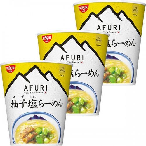 닛신 청일 AFURI 유자 소금 미니 컵라면 (3개 세트)