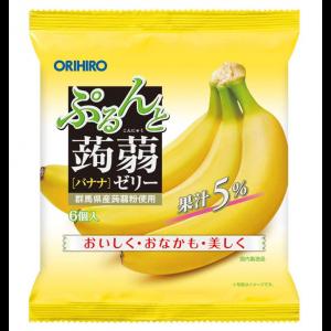 일본 오리히로 곤약젤리 바나나 1봉지 (6개입)
