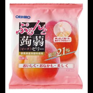 일본 오리히로 곤약젤리 복숭아 1봉지 (6개입)