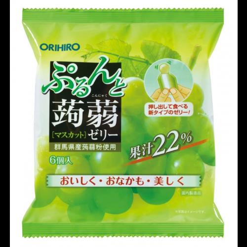 일본 오리히로 곤약젤리 청포도 1봉지 (6개입)