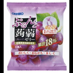 일본 오리히로 곤약젤리 포도 1봉지 (6개입)
