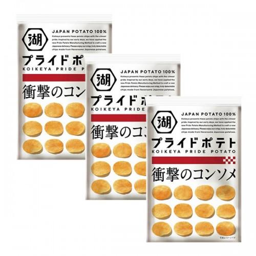 코이케야 프라이드 콘소메 감자칩 (3개 세트)