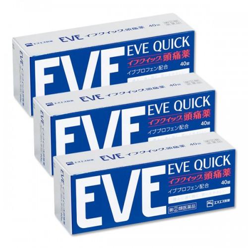이브 진통제 - 이브 퀵 (EVE QUICK) 40정 (3개 묶음 할인)
