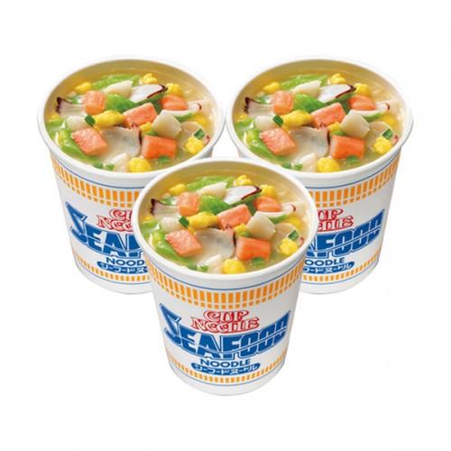 닛신 컵누들 해산물 컵라면 (3개 세트)