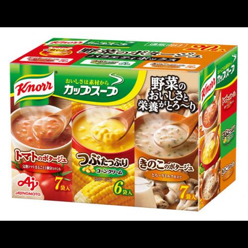 아지노모토 컵스프 버라이어티 상자 3종 20개입  (완숙 토마토, 콘, 버섯)