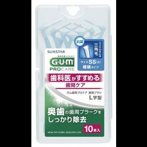 GUM 치간칫솔 L자형 사이즈SS (10개입)