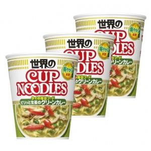 닛신 컵누들 매콤한 생강 그린카레 (3개 세트)