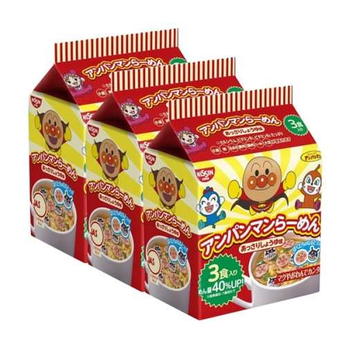 호빵맨 라면 (간장맛) (3개세트)