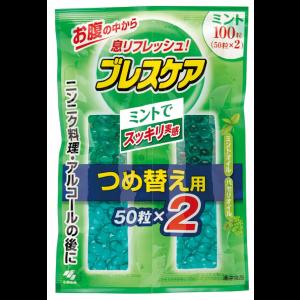 고바야시제약 브레스케어 민트 리필용 100정 (50정×2봉지)