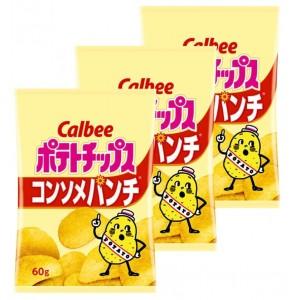 칼비 감자칩 콘소메 펀치60g 3봉지