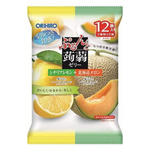 곤약젤리 시칠리아 레몬+북해도 메론 파우치형 (12개입)