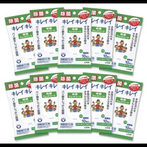 라이언 키레이키레이 손세정 시트 10매입 (10개 세트)