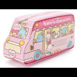산리오 캐릭터 버스형 필통 핑크