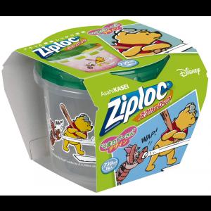 (한정) Ziploc 용기 곰돌이 푸우 730ml 1개입